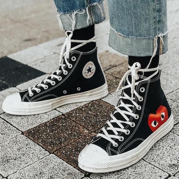 7960da1884d7 Converse Shoes - Comme Des Garçons Play Black Converse High-tops